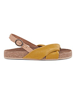 Bermuda Twist Leather Footbed Wide Fit