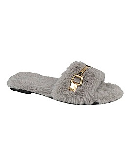 Fluffy Mule Slipper Standard Fit