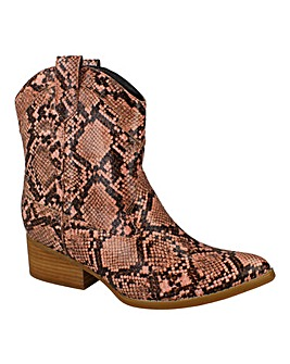 Snake Print Western Boot Standard Fit