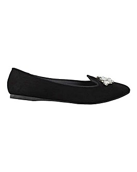 Trim Detail Flat Slipper Shoe S Fit