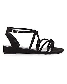 Dassia Strappy Wedge Wide E Fit