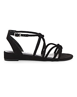 Dassia Strappy Wedge Extra Wide Fit