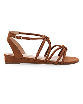 Dassia Strappy Wedge Wide Fit