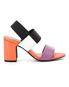Rome Elastic Block Heels Extra Wide