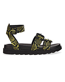 Tulsa Ankle Strap Footbed Wide Fit