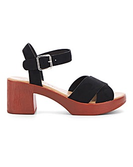 Liza Block Heel Sandal Wide E Fit
