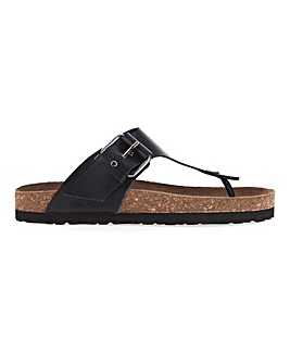 Corfu Leather Footbed Toepost Extra Wide