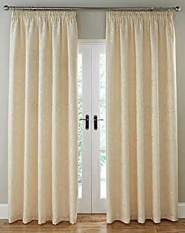 Knightsbridge Jacquard Lined Pencil Pleat Curtains
