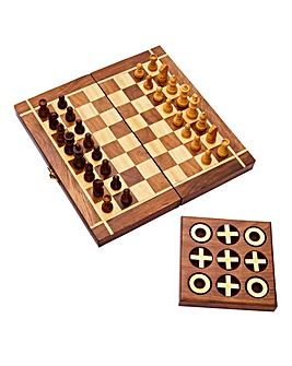 Sheesham Wood Games Set