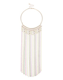 Lipsy Chain Tassel Collar Necklace