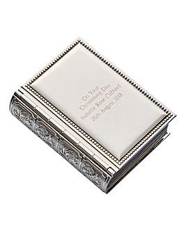 Personalised Book Trinket Box