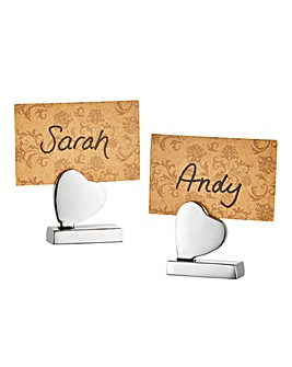 Set of 2 Heart Place Card Holders