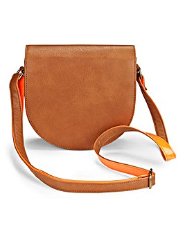 Saddle Bag with Contrast Neon Strap