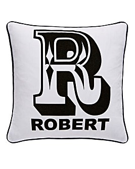 Personalised Intial Cushion Cover