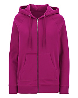 Cotton Zip Through Hoodie