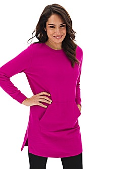 Magenta Cotton Sweat Tunic