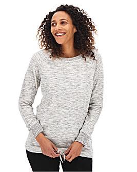 Grey Marl Cotton Sweatshirt