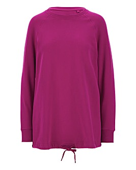 Magenta Cotton Sweatshirt