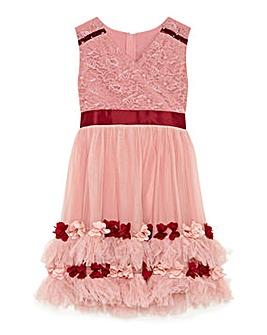 Yumi Girl Rose Border Prom Dress