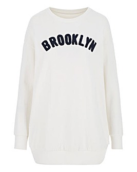 Ivory Embroidered Sweatshirt