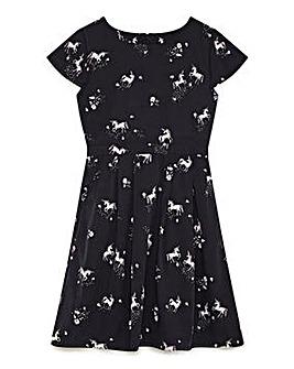 Yumi Girl Unicorn Print Dress