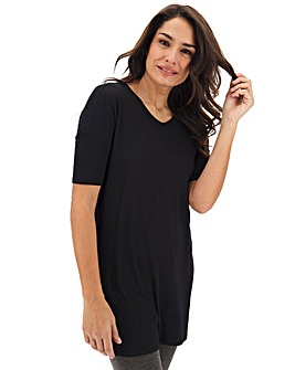 Black Cut Out Back Tunic