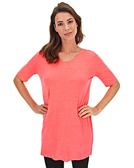 Neon Pink Cut Out Back Tunic