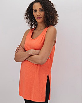 Bright Coral Slouch Vest