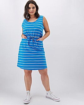 Stripe Sleeveless Dress