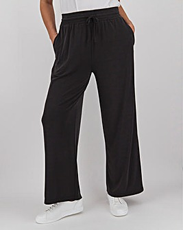 Charcoal Modal Blend Wide Leg Trousers