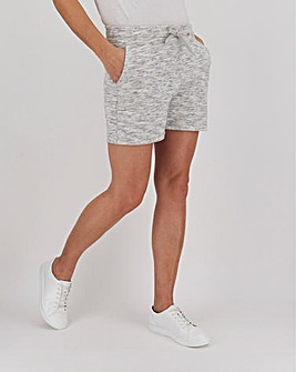 Snow Marl Cotton Jog Shorts