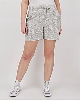 Snow Marl Cotton Jog Shorts