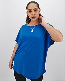 Azure Blue Slouch T Shirt