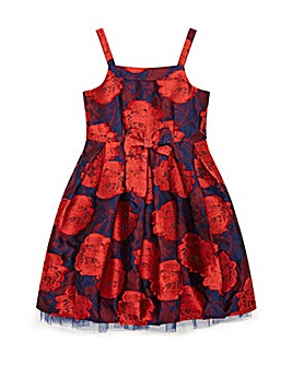 Yumi Girl Rose Jacquard Floral Dress
