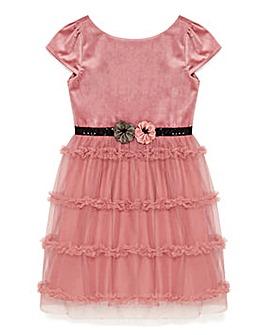 Yumi Girl Velvet Ruffle Prom Dress