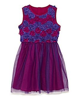 Yumi Girl 2 Tone Floral Prom Dress
