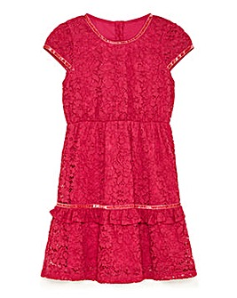 Yumi Girl Lace Ribbon Dress