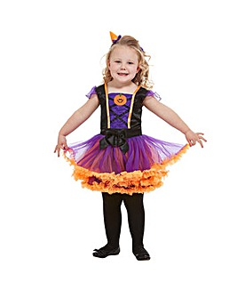 Halloween Toddler Pumpkin Witch Costume