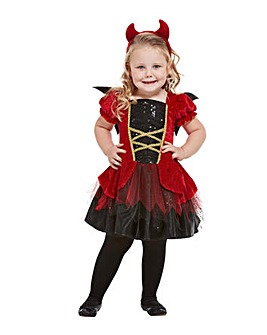 Halloween Toddler Devil Girl Costume