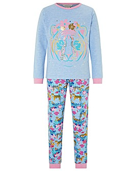 Monsoon Tessa Tiger Jersey Pyjamas