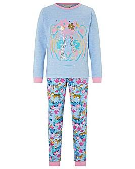 Monsoon Tessa Tiger Jersey Pyjamas