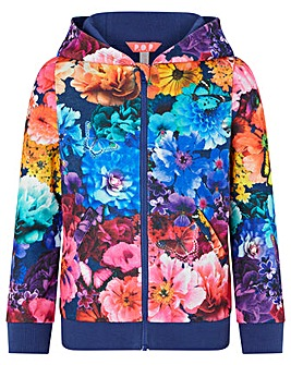 Monsoon Tamika Print Hooded Zip Top