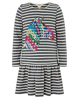 Monsoon S.E.W Zebra Sequin Stripe Dress