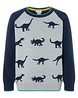Monsoon Elijah Dino Raglan Jumper