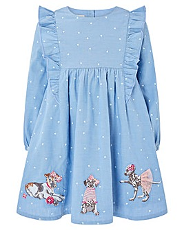 Monsoon Baby Dina Chambray Dress