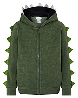 Monsoon Ryder Zip Up Dino Hoodie