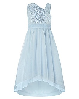 Monsoon Nadia Blue 1 Shoulder Dress