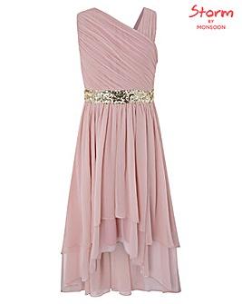 Monsoon Abigail One Shoulder Prom Dress