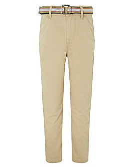 Monsoon Stone Belted Chino Trouser