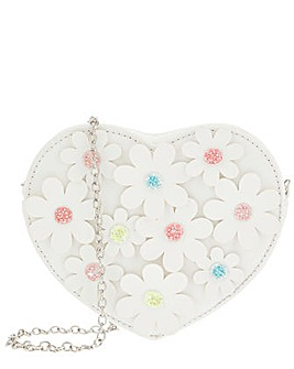 Monsoon Daisy Chain Heart Bag